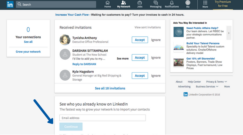 12 LinkedIn how to network how to sign up social media platform outreach touro graduate school of technology gst master degree program tech follow following.png