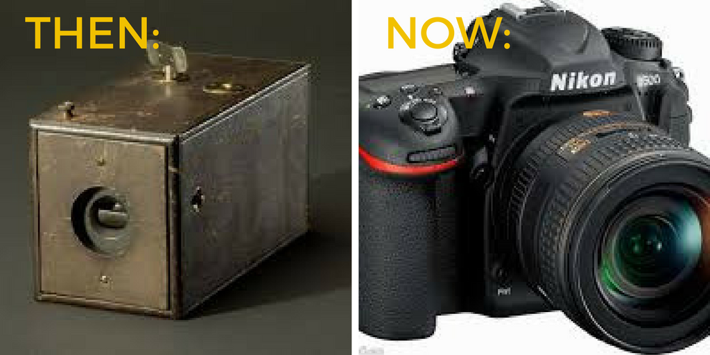 Cameras Then and Now