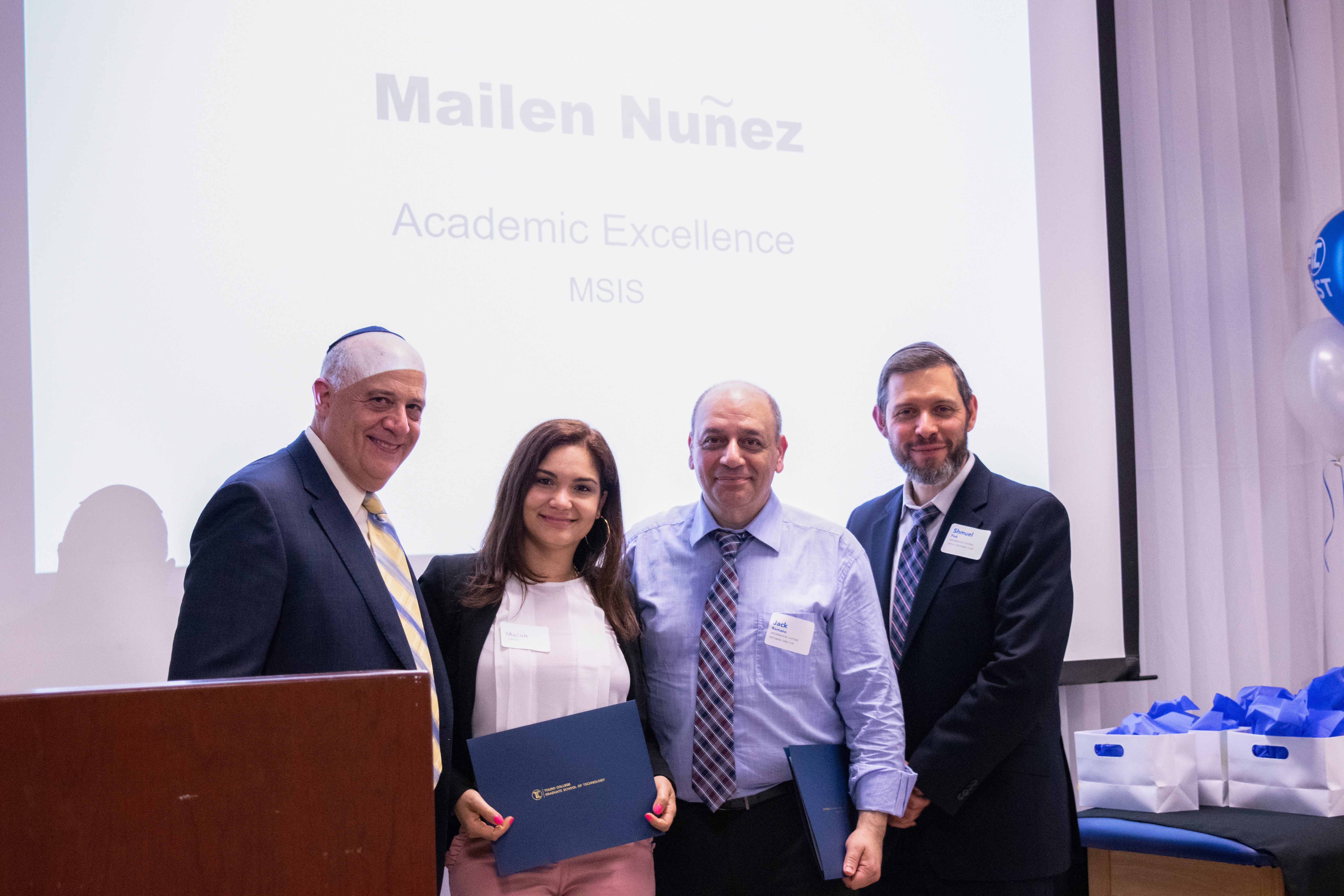 Mailen Nuñez Graduation Dinner 2018 Touro Graduate School of Technology